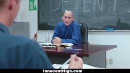 InnocentHigh - Rebellious Teen Fucked During Detention