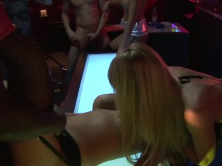 BUSTY STRIPPERS FUCK AND SUCK MONSTER COCKS