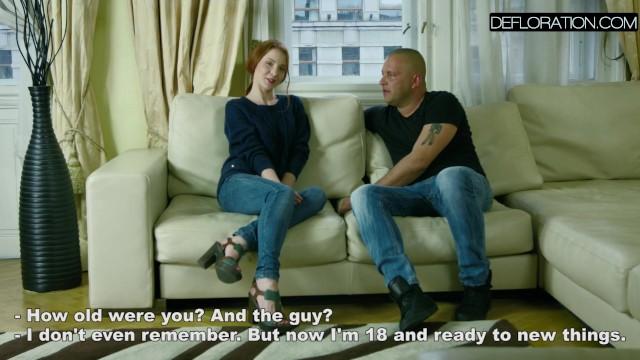 Redhead Mila loves big cock 3