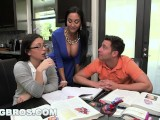 BANGBROS - Step Mom MILF Ava Addams Threesome With Teen Daisy Summers
