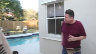 Marina loses bet and fucks Rocky the neighborhood bum-full vid in premium Small tits