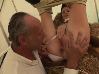 PAWG Horse Trainer CAROLINE DE LYS Fucks Old Big Dick Rich Man