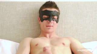 Young straight cock on jerks and his spits maskurbate it muscles audition