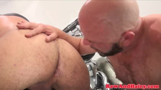 Wolf cock ass spreads silver for biker bare rimming gay