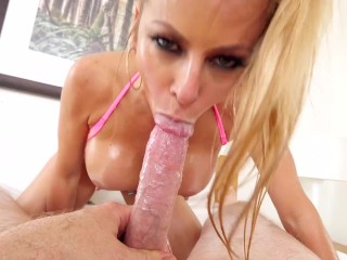 Suck Balls 5 Alexis Fawx - MILF With Huge Tits Gets Throat Fucked