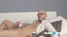 European Jayden Allen Relaxes On the Couch While Jerking Off His Cock