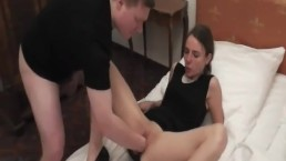 Teen slut fist fucked in her loose ruined pussy