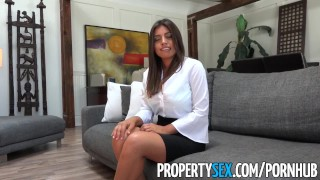 PropertySex - Potential client impressed by big natural tits Step step
