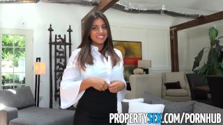 PropertySex - Potential client impressed by big natural tits Boobs big