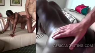African cutie craving for big dick porno
