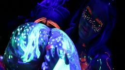 Abigail Mac and Ava Adams Blacklight Sex Party
