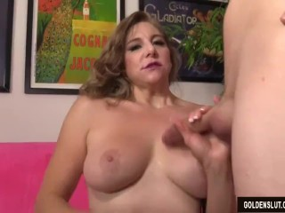 Super sexy older woman Jade B loving cock