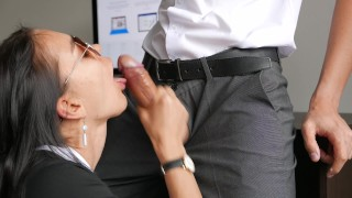 Horny Young Secretary Fucks In Anal, Pussy & Mouth With Her Office Boss Grope boo