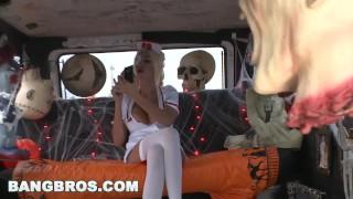 BANGBROS - Trick Or Treat, BITCHES! With MILF Puma Swede on Bang Bus! porno