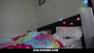 SisLovesMe - Petite Step Sis Sleeps In My Bed