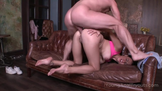 Young Anal Tryouts - Opened her ass cheeks 15