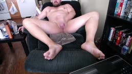 masterbating to orgasm with my very thick 8 inch cock in cock and ball ring