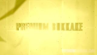 Preview 5 of Premium Bukkake - cumshot swallow compilation and emotional girls reactions