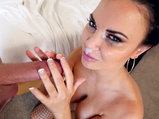 Suck Balls 5 Jasmin Jae MILF With Huge Tits Sucks Gets Huge Cum Facial