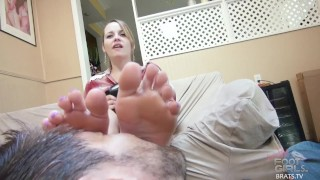 Brats.TV Foot Licking Femdom Sessions