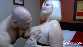 agedlove chubby giving bj with perfect tits