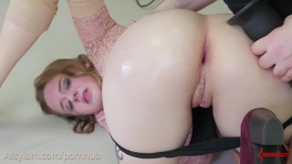 Submissive beauty, Jessica Kay, gets brutally anal gaped by mad Dr. Mercies