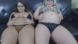 Lexxxi Lockhart Belly with the other blonde.