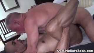 Dicksucking polar bear rides chubs cock