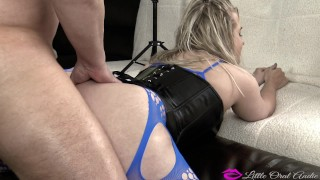 ANAL HAMMER TIME! She Struggles While He Pounds Her Jiggling Ass Faster CIM Blonde first