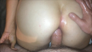 Shy Asian's First Anal Fuck (Cum in Ass after Licking & Fucking It!!!)