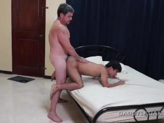 Daddy Bareback Fucks Gay Asian Boy Dave