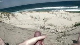 Busting Nuts at Beach