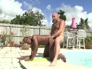Daddy Sailor Blue Bareback Fucks Donny Ray