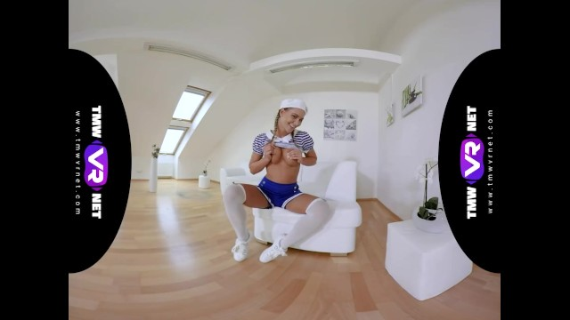 TmwVRnet.com - Naomi Bennet - Cute Sailor Cosplayer Shows Her Skills in VR 5