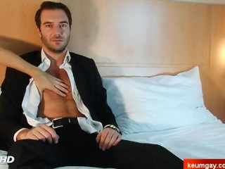 Handsome straight male's cock to taste. Stephane, bankster