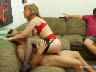 800DAD Hot Milf gets a Big Cock Gift from her Hubby