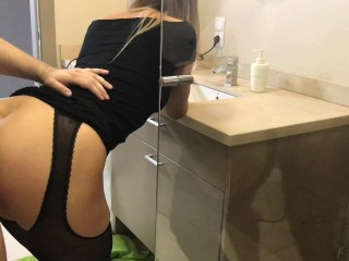 Preview 3 of Step brother take sister in shower and cum on shes ass