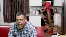 BANGBROS - Brandi Bae Loves Her Father's Older Black Friends