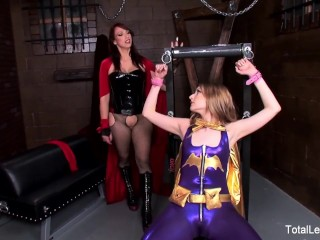 Bondage magic wand forced orgasm