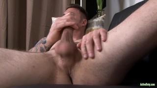 ActiveDuty Major Hunk Jerks Gorgeous Cock Dick sucking