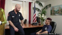 IconMale Armond Rizzo Fucked by Fire Cheif at the Station