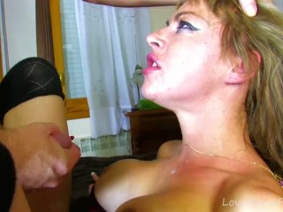 Busty Amateur Choking On Cock And Fucked Hard