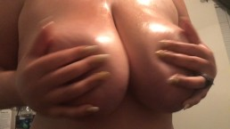 Oiled G tits