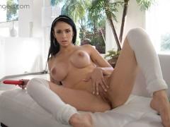 VR PORN - Big tits Latine Tease and Masturbate