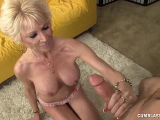 Fantastic granny handjob...
