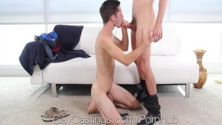 GayCastings Newbie Bryce Acton fucked by casting agent porno