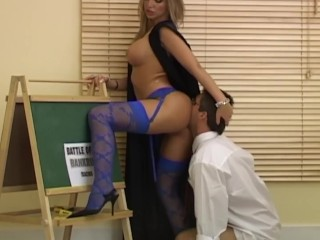 Big Tit Student Rides Her Teachers Huge Cock
