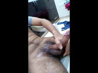 Lubed up and high brown twink's 5th load for the day