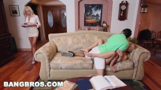 BANGBROS - Stepmom Nina Elle Has Threesome With Natalia Starr