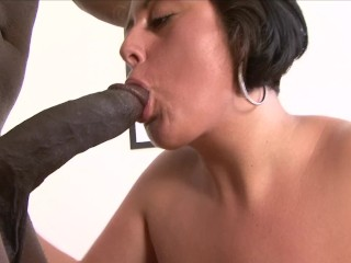 Curvy MILF gets big black dick